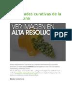 Propiedades Curativas de La Marihuana
