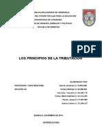 LOS PRINCIPIOS DE LA TRIBUTACION