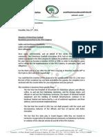 Palestinian Football Association Letter to FIFA Member Associations Regarding Resolution to Suspend FIFA
