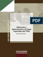 Adiciones y Deducciones a La Base Imponible Del ITAN