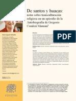 Chasqui de Santos y Huacas Notas Sobre Transculturación Religiosa en Un Episodio de La Autobiografía de Gregorio