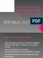 Violence Against Women and Their Children Act Of