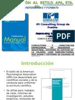 Introduccion APA 6ta_integrado_curso Taller - PROFR. ING. RAFAEL ARROYO CASTAÑEDA Ipi Consulting Group de Puebla