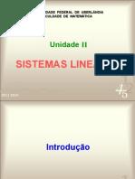 Unidade II - Sistemas Lineares