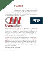 Dịch Thuật Văn Học Cnn