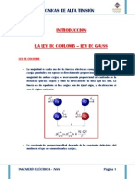 Ley de Coulomb y Ley Gauss