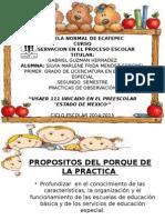 Presentación  del preescolar ESTADO DE MEXICO