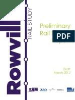 Rowville Rail Study Preliminary Rail Design Report Part1