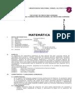 Silabo de Matemática 2014