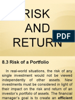 Risk and Return 8.3 & 8.4