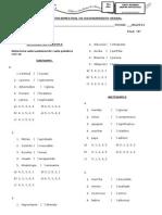 Evaluación Bimestral de Razonamiento Verbal