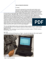 Multiple NDT Methods in the Automotive Industry