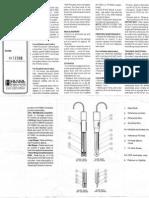 Hanna Instruments Electrode Instruction Guide HI1230B