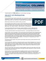 10-03-01 Velocity of Propagation