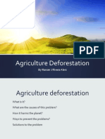 agriculture deforestation
