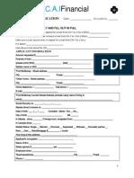 CAI Loan Application