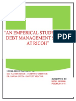 Report on Debt Management