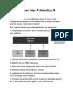Examen Final Automática III