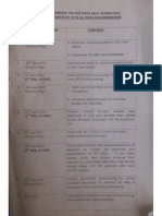 Bar Council of India (BCI) minutes on the All India Bar Exam in 2012