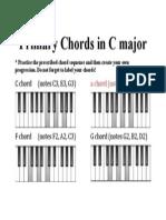 Primary Chords in C Major