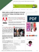 Adobe Cambia Su Modelo de Negocios  de Licencias a Suscripciones