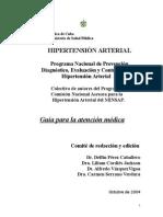 guia cubana de tratamiento para la hipertension arterial