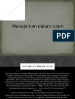Manajemen Dalam Islam