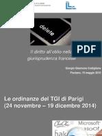 G. Giannone Codiglione - Il Diritto All'Oblio Nella Giurisprudenza Francese