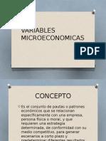 Variables Microeconomicas