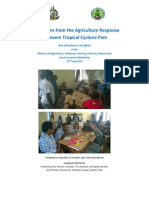 Key Lessons from the Agriculture Response to Severe Tropical Cyclone Pam
