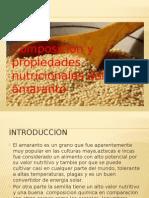 Composicion y Propiedades Nutricionales Del Amaranto