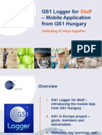 GS1 Logger for Staff GS1 Global Forum 2012