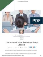 10 Communication Secrets of Great Leaders