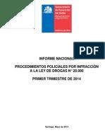 Informe DROGAS 1er Trimestre 2014