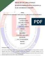 Aplicacion de Auditoría Tributaria en La Provincia de Tungurahua