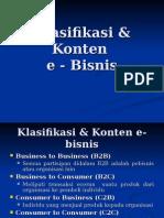 4. Klasifikasi & Konten E-bisnis