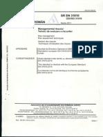 Sr en 31010 2011 Managementul Riscului Tehnici de Evaluare