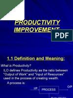Productivity Concept, Measurement and Improvement 09