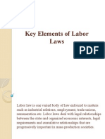 Key Elements of Labor Laws