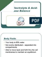 Fluid Electrolyte Acid-Base Balance