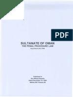 Oman Penal Procedure Law (97/99)
