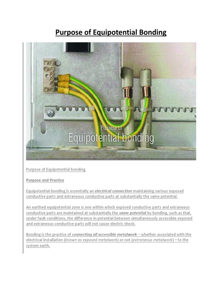 Purpose Of Equipotential Bonding Building Technology Electricity Earth Hi Tester Hioki 3151