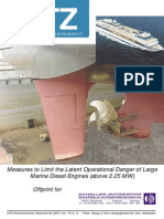 Measures to Limit the Latent Operational Danger of Large Marine Diesel Engines (Above 2.25 MW)