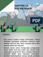 Chapter 13 Solar Energy
