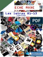Depeche Mode Las Letras 8113 - Martin L Gore
