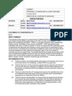 Proposal to Enter Into a Joint Venture - Southampton