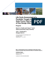 Life Cycle Assessment of a Parabolic Trough Concentrating Solar Power Plant