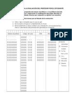 Instrumento Para La Evaluación Del Profesor Por El Estudiante 2010