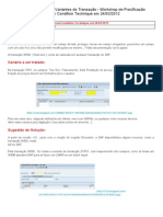 Dicas e Truques de SAP - Variantes de Transação