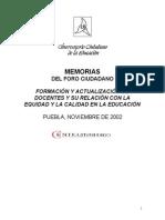 Formación y Actualización de Docentes y Su Relación Con La Equidad y La Calidad en La Educación